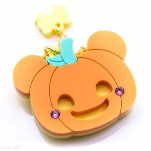 Kuma Pumpkin Necklace or Brooch