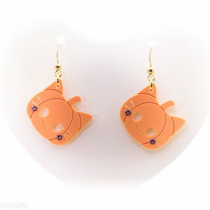 Kitty Pumpkin Earrings