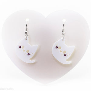 Ghost Kitty Earrings