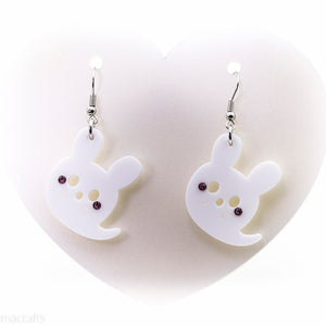 Ghost Bunny Earrings