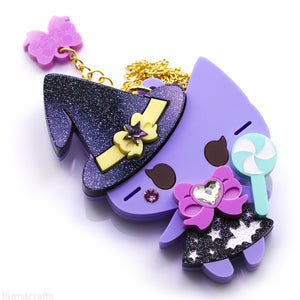 Witch Kitty - Necklace or Brooch