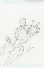 Iron Man -Original Graphite on 11x17 Comic Board (Plus Bonus)