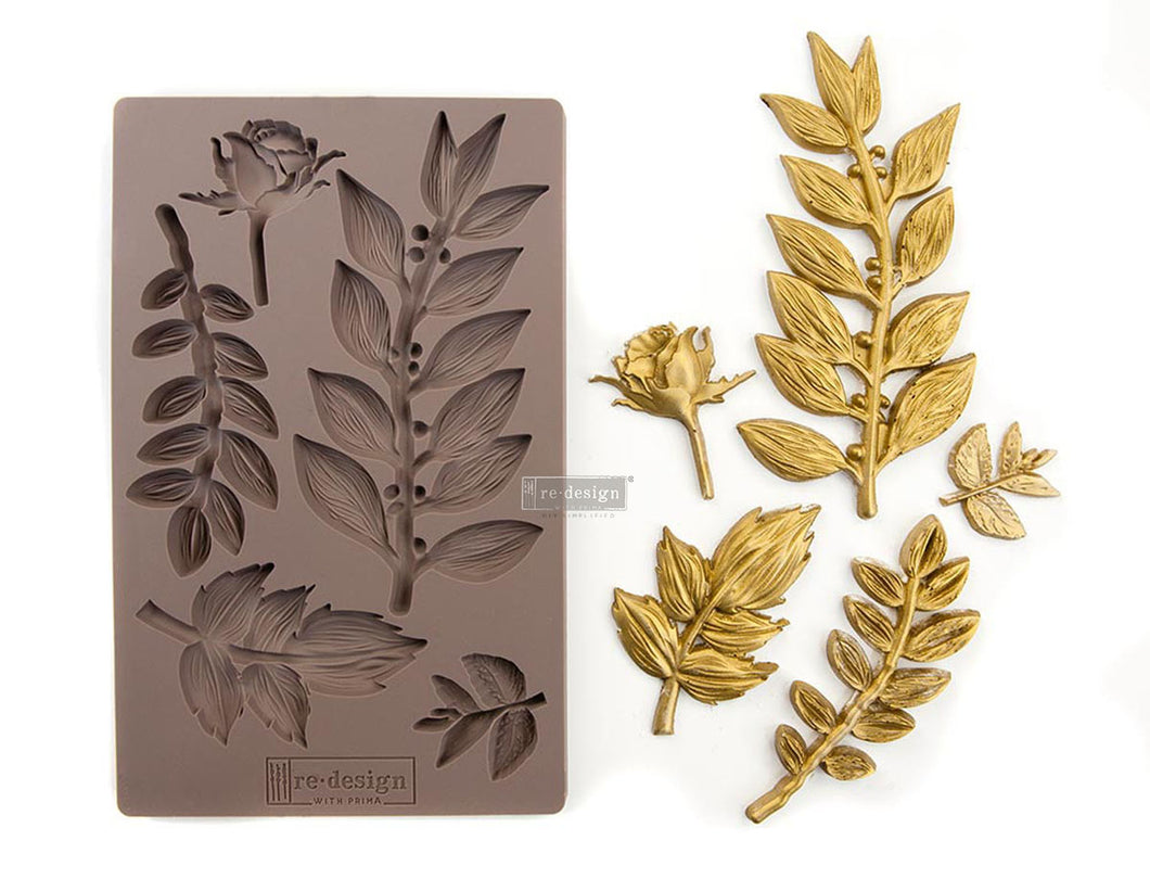 Redesign with Prima - Redesign Mould - Leafy Blossoms