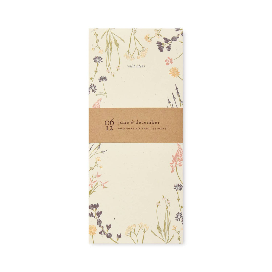 June & December - Wild Ideas Notepad