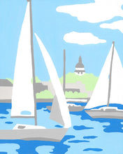Wehgo  - Sail Boats - 7 Color Paint by Number Kit