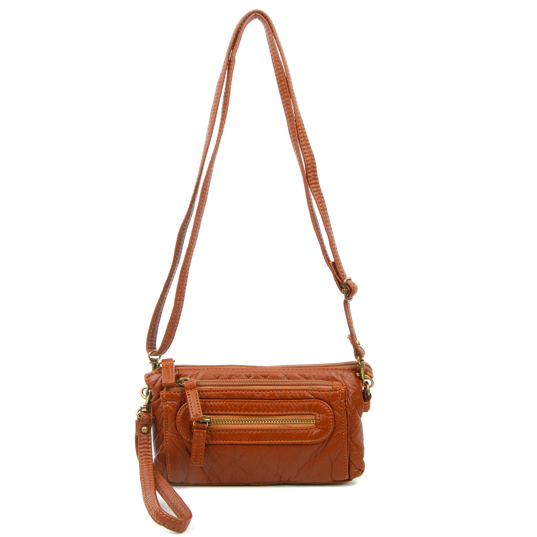 The Anita Crossbody Wristlet, Brown