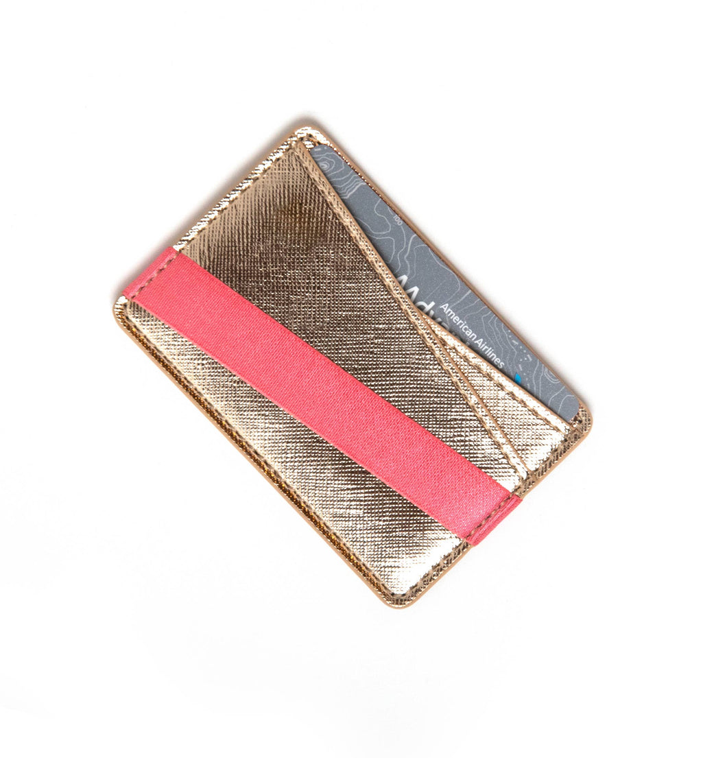 Tech Candy - TO HAVE & TO HOLD ORIGAMI PHONE-BACK WALLET : GOLD/PINK