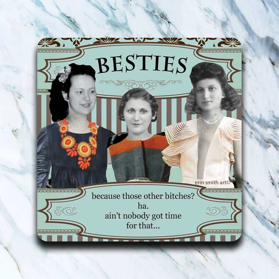 High Cotton Gifts - Besties Coaster