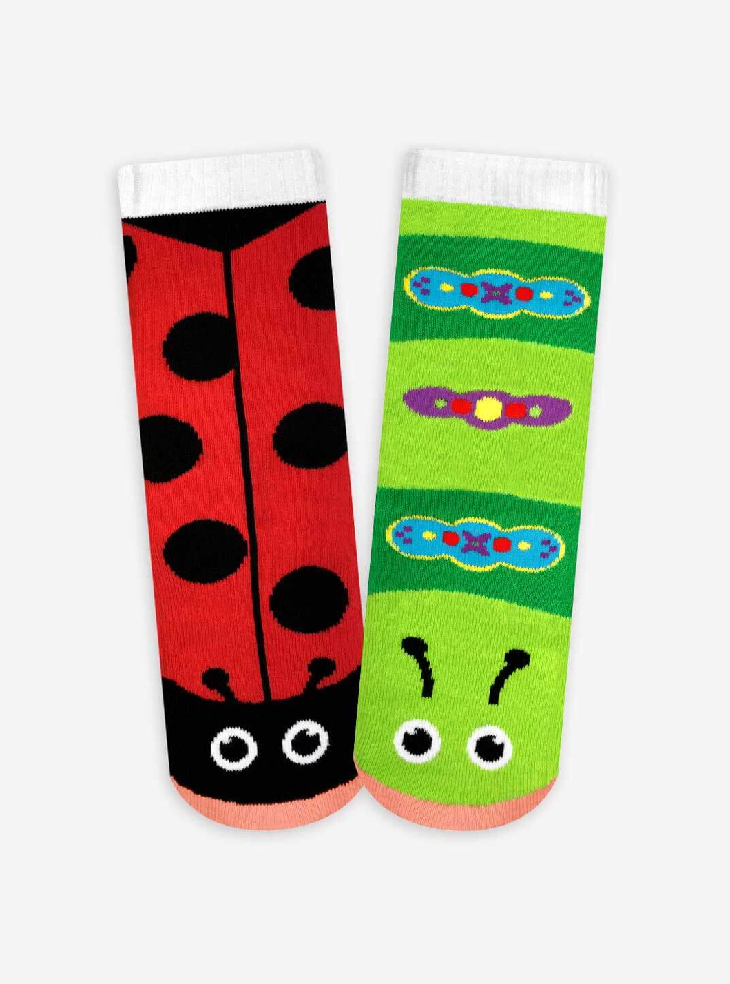 Pals Socks - Ladybug & Caterpillar Kids Collectible Mismatched Bug Socks