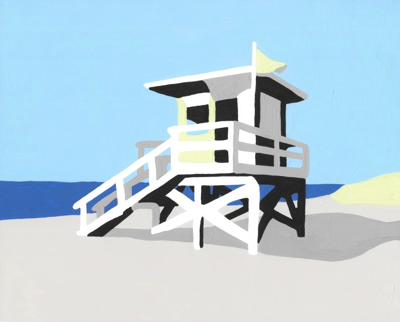 Life Guard Station - 7 Color Paint by Number Kit