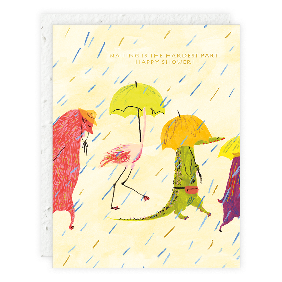 Animal Rainy Day Parade Seedlings Card