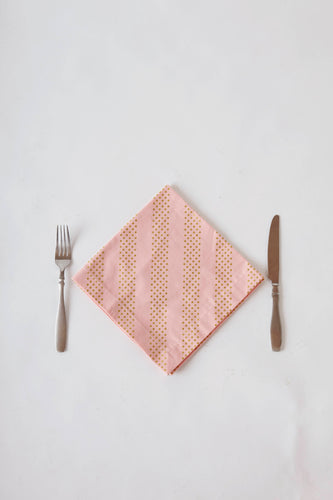 Pink Shimmer Dot Dinner Napkin Set