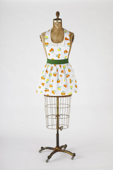 Retro Apron Gidget Orange Print