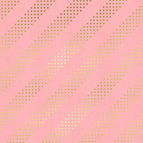 Cotton Candy Dottie Cotton + Steel Fabric Pink