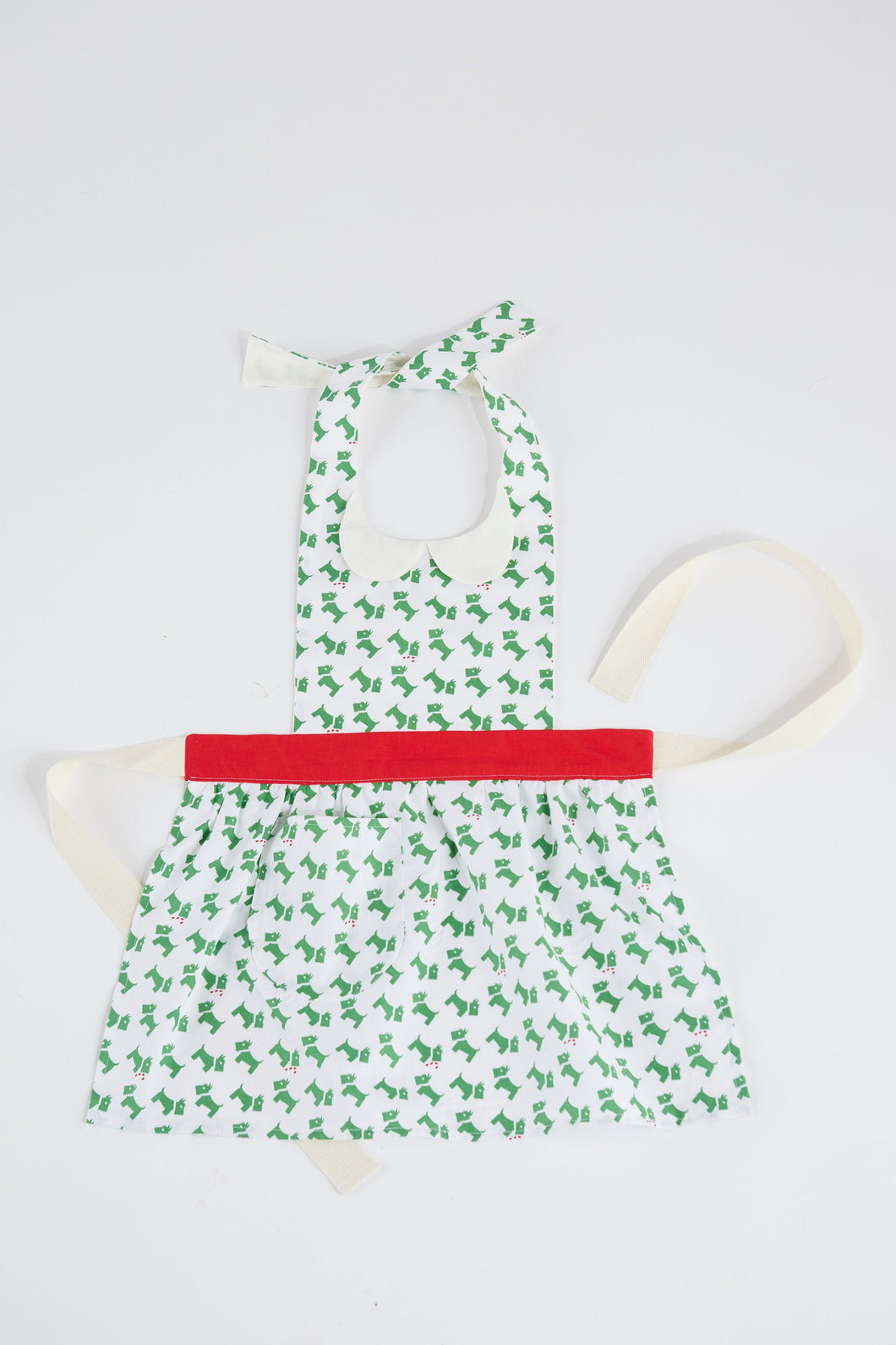 Kids Retro Apron Christmas Scotties