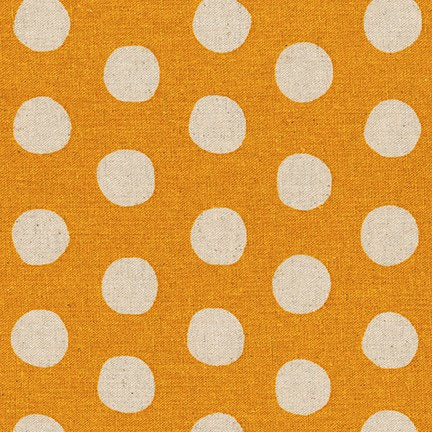Canvas Natural Dots Fabric in Gold Sevenberry Robert Kaufman