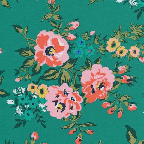 Cloud 9 Sweet Rose Cotton Sateen Fabric by the Yard 62 inches wide