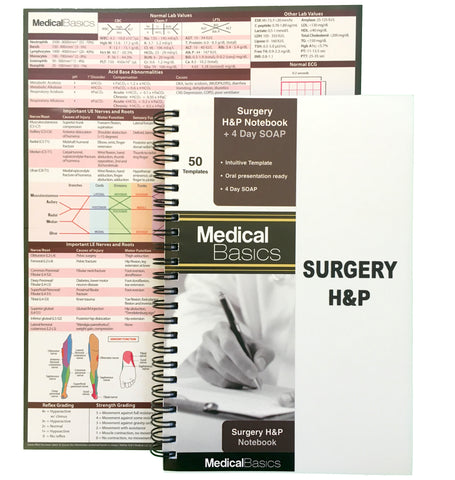Surgery H&P Notebook with 4 Day SOAP