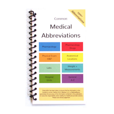 Medical Abbreviation Pocket Booklet