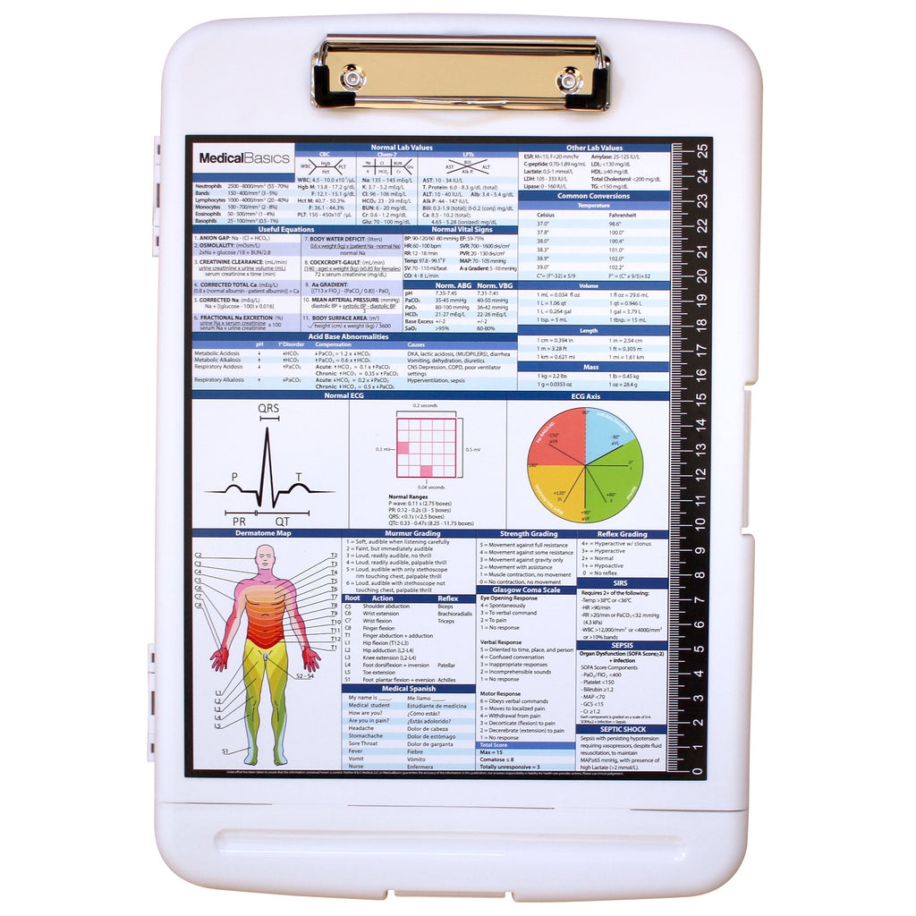 Storage Clipboard with Pen Box - Medicine Edition Quick Medical Reference