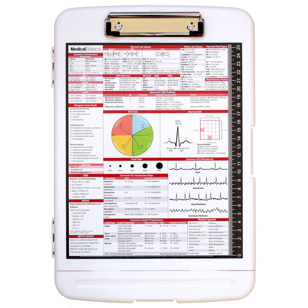 x20 Storage Clipboard with Pen Box - Nursing Edition Quick Medical Reference (2017)