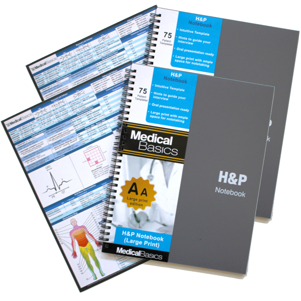 "H&P notebook Plus (Larger Print Edition) 8""x11"""