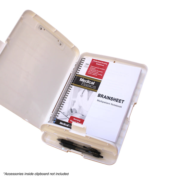 Storage Clipboard with Pen Box - Nursing Edition Quick Medical Reference