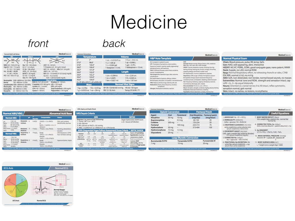 scrubnotes medical reference id badge cards 13 card set with pocket