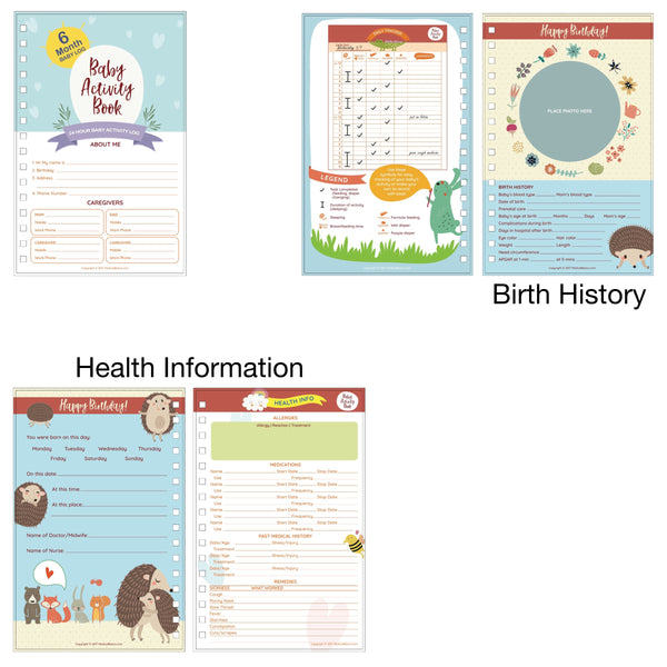 Baby Tracker Journal for Newborns (Girl Edition) - Baby Diary / Schedule Book and Log Chart