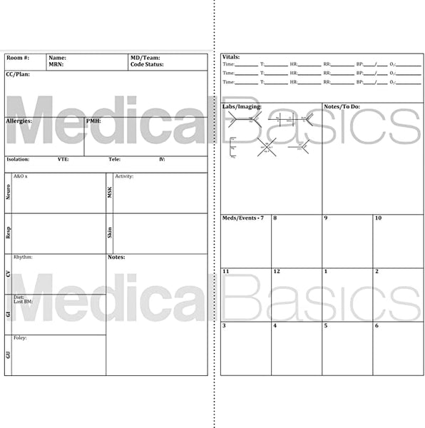Nurse Report Sheet Pocket Notebook