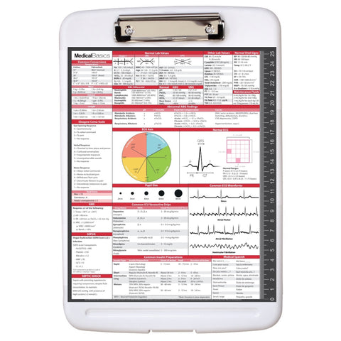 Storage Clipboard with Quick Reference - Nursing Edition