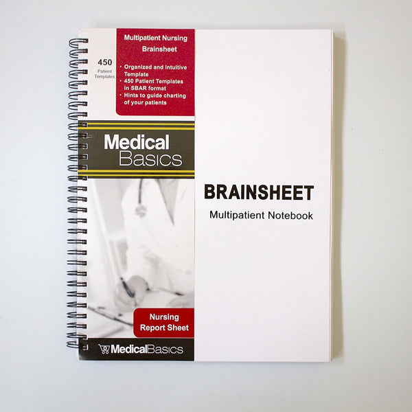 Brain Sheet Multiple Patient Nursing Notebook