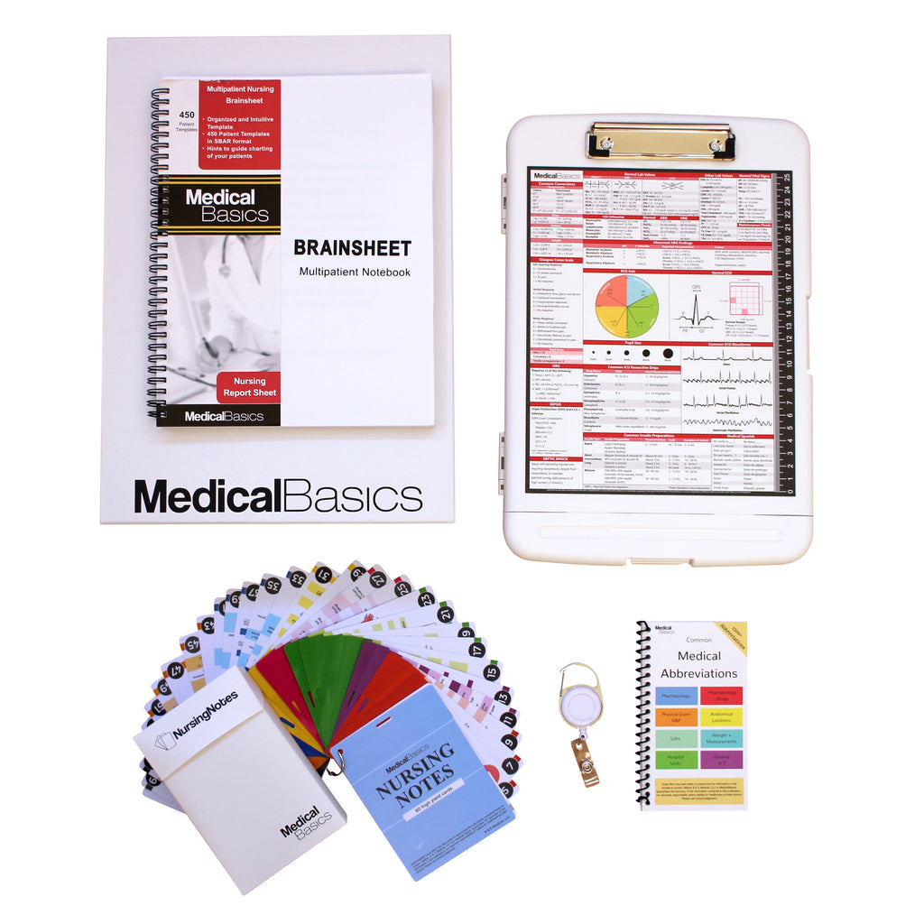 Nursing Gift Box (Multipatient Brainsheet + Nursing Notes)