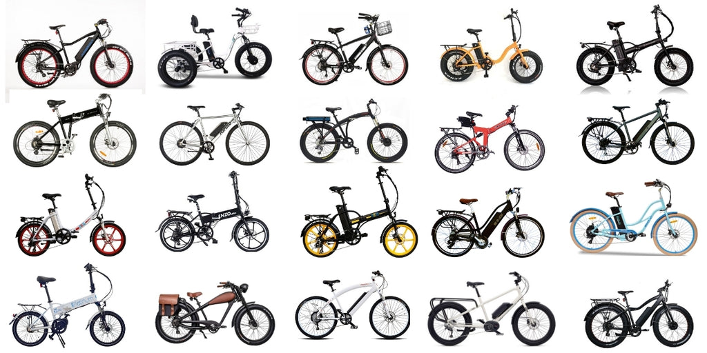 20 ebikes from different brands