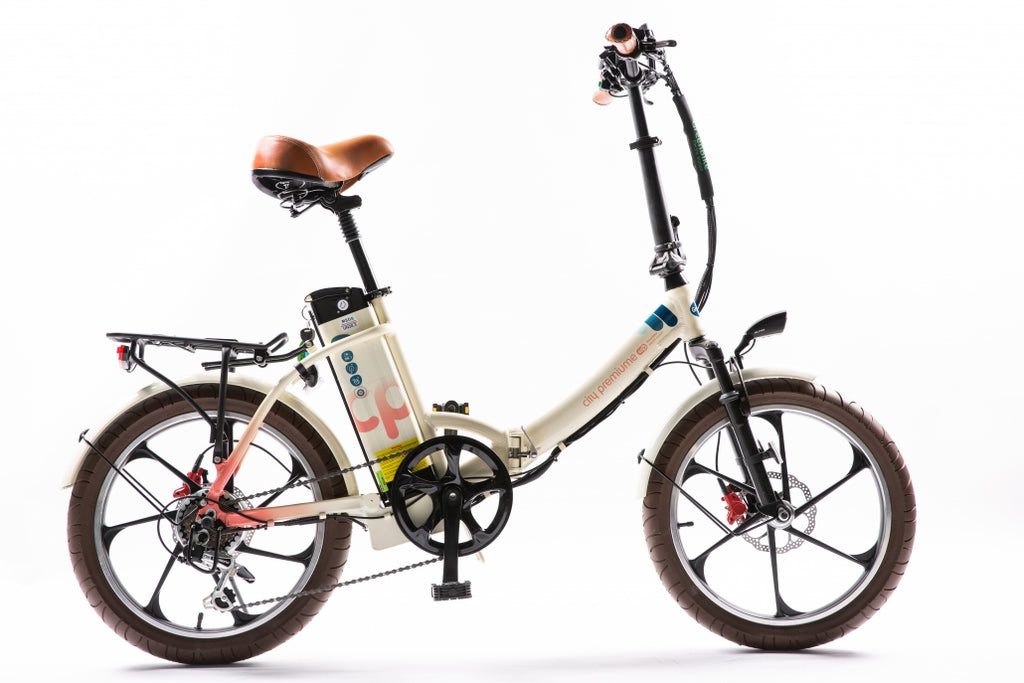 city premium low step folding electric bicycle