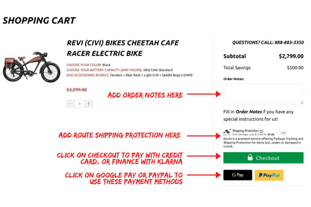 payment options for really good ebikes