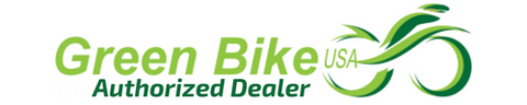 green bike usa authorized dealer logo for really good ebikes