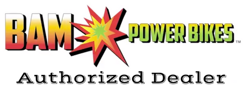 bam power bikes authorized dealer logo for really good ebikes