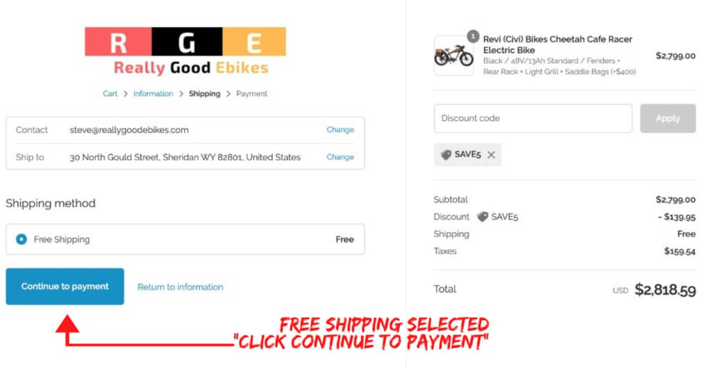 continue to really good ebikes payment