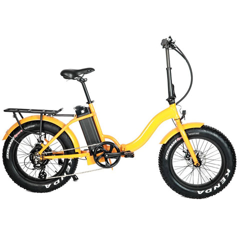 eunorau fat tire folding step thru electric bike