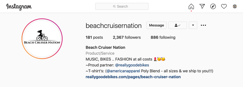 beach cruiser nation on instagram