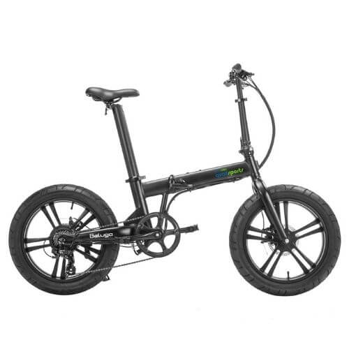 qualisports beluga folding electric bike left side view