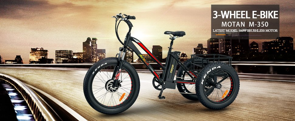 addmotor motan m350 fat tire electric trike at really good ebikes
