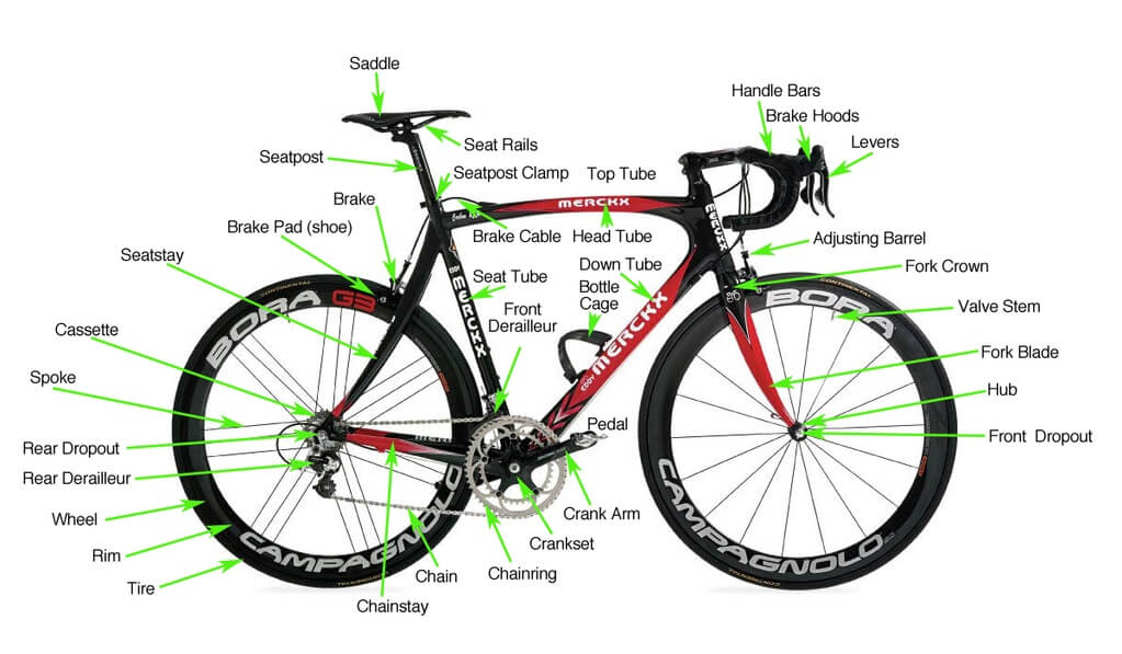 really good ebikes image of anatomy of a conventional bike
