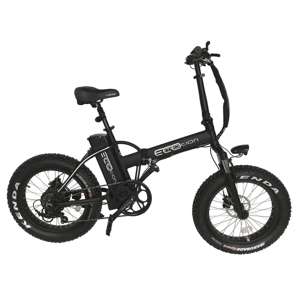 ecomotion 500w mini pro fat tire folding electric bike at really good ebikes