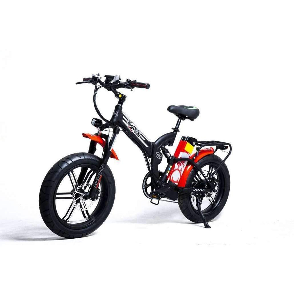 big dog off road full suspension folding electric fat tire bike