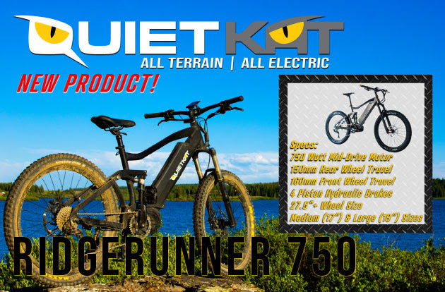quietkat ridgerunner 750W electric mountain bike courtesy of really good ebikes