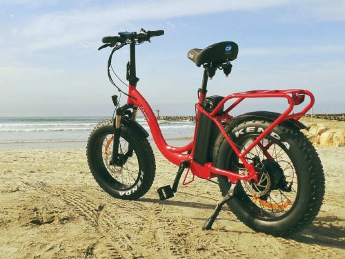 ride scoozy veego 750 fat tire electric bike at really good ebikes