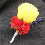 Hot New Groom/Best Man/Groomsmen Boutonniere - 15 Colors to Choose From!!