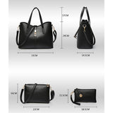 3 Pcs/Set PU Leather Women's Handbags